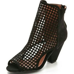 Jeffery Campbell Black Retain Leather Booties